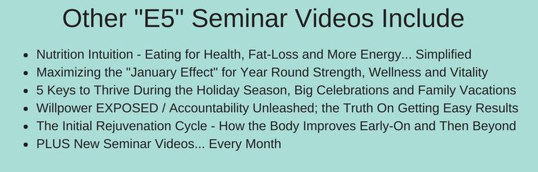 E5 Fitness Seminar Videos