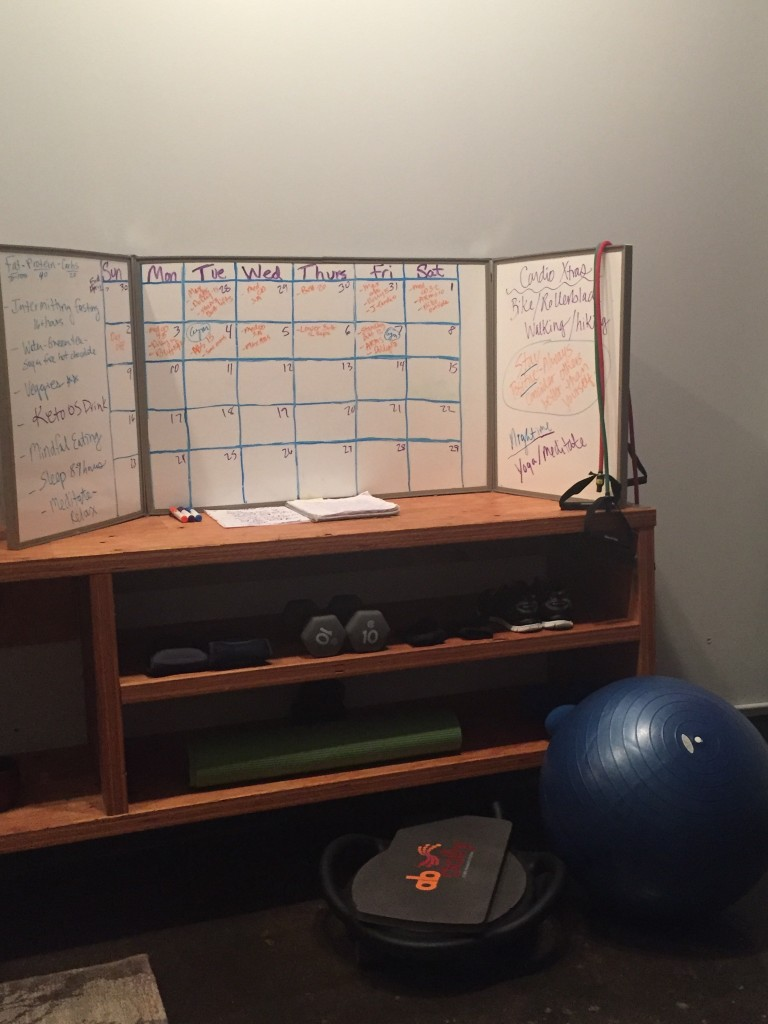 Karie's Fitness Lifestyle Whiteboard Planner in Fitness Area