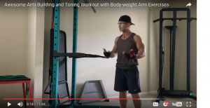 Awesome Arm Building and Toning Workout with 8 Body-weight Arm Exercises