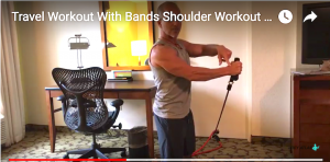 Best Shoulder Workout in Hotel Room: Travel Workout With Bands