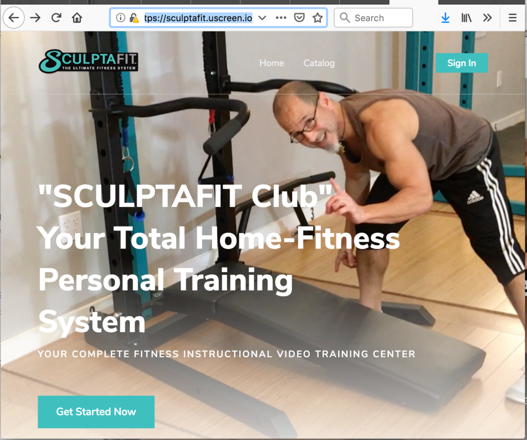 SCULPTAFIT Club Home-Gym & Fitness System Video-On-Demand Portal