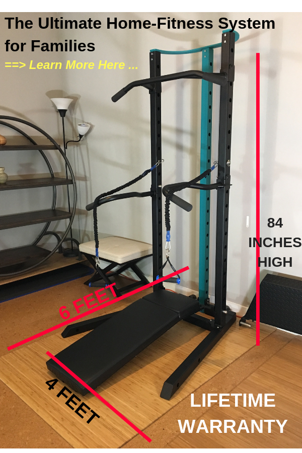 SCULPTAFIT Home Gym System Set up dimensions