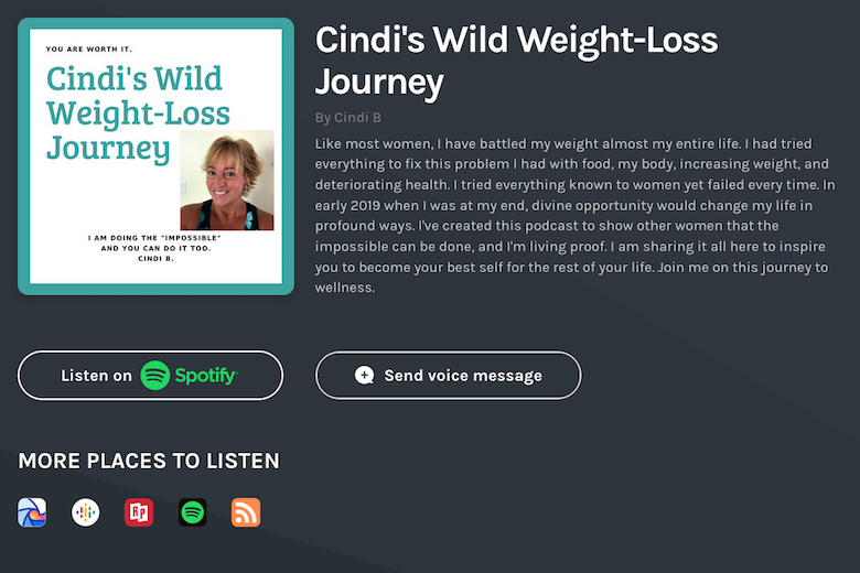 Cindi's wild weight loss journey podcast with fitness, weight loss and health coach Joey Atlas